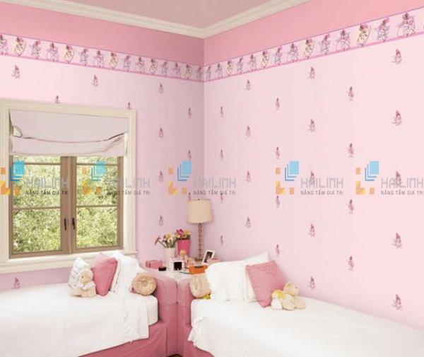 gạch ốp tường màu hồng cho không gian phòng ngủ