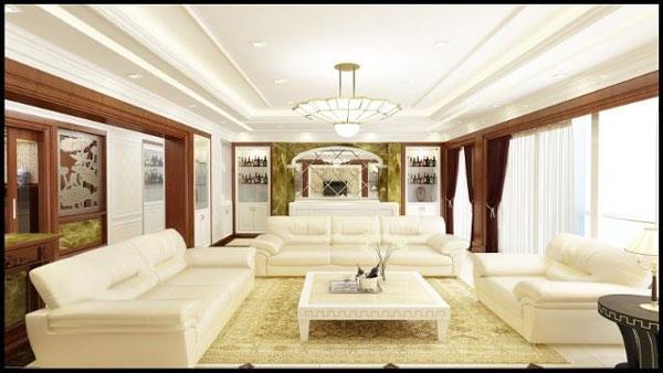Gợi ý những mẫu phòng khách tân cổ điển đẹp 2021 1