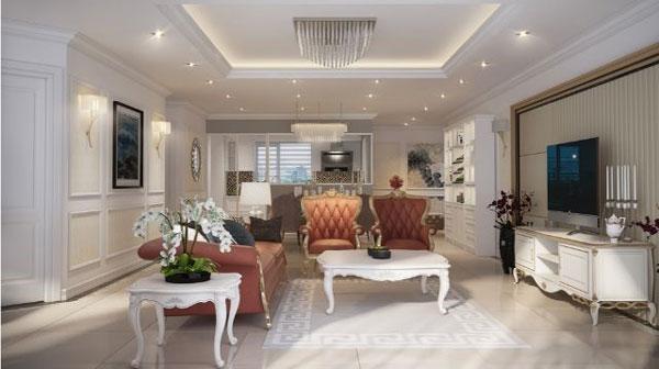 Gợi ý những mẫu phòng khách tân cổ điển đẹp 2021 2