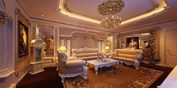 Gợi ý những mẫu phòng khách tân cổ điển đẹp 2021 3