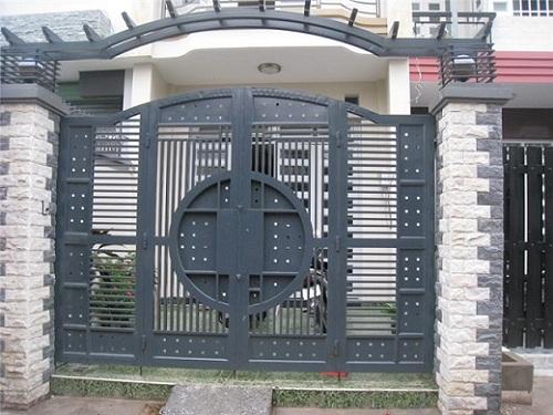mẫu gạch ốp cổng đẹp sang trọng-03