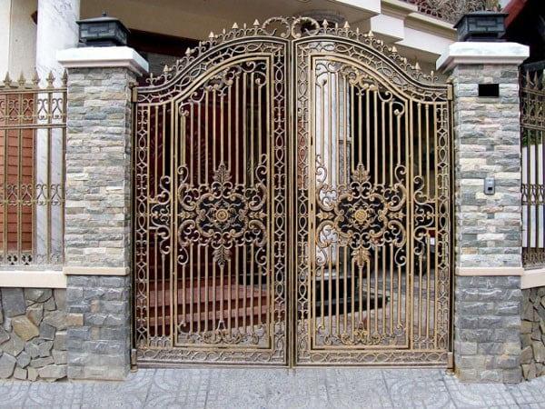 mẫu gạch ốp cổng đẹp sang trọng-04