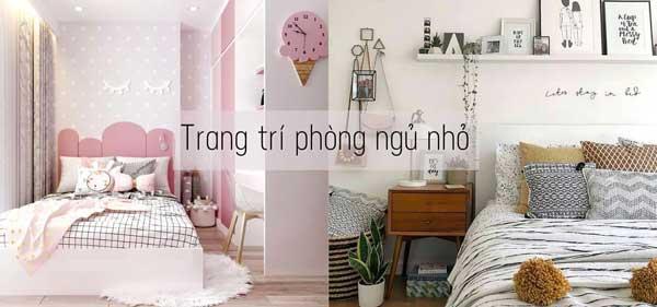 Trang trí decor phòng ngủ nhỏ đơn giản
