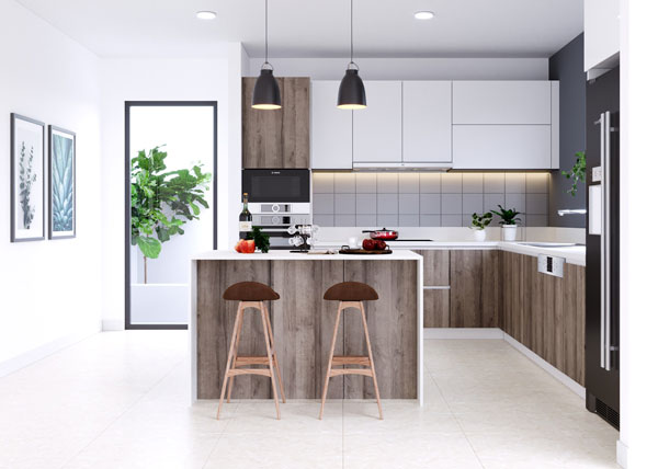 Thiết kế phòng bếp đẹp phụ thuộc vào những yếu tố nào? 8