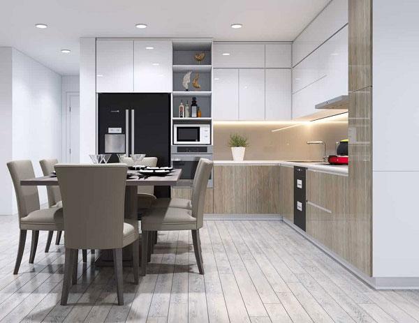 Thiết kế phòng bếp đẹp phụ thuộc vào những yếu tố nào? 9